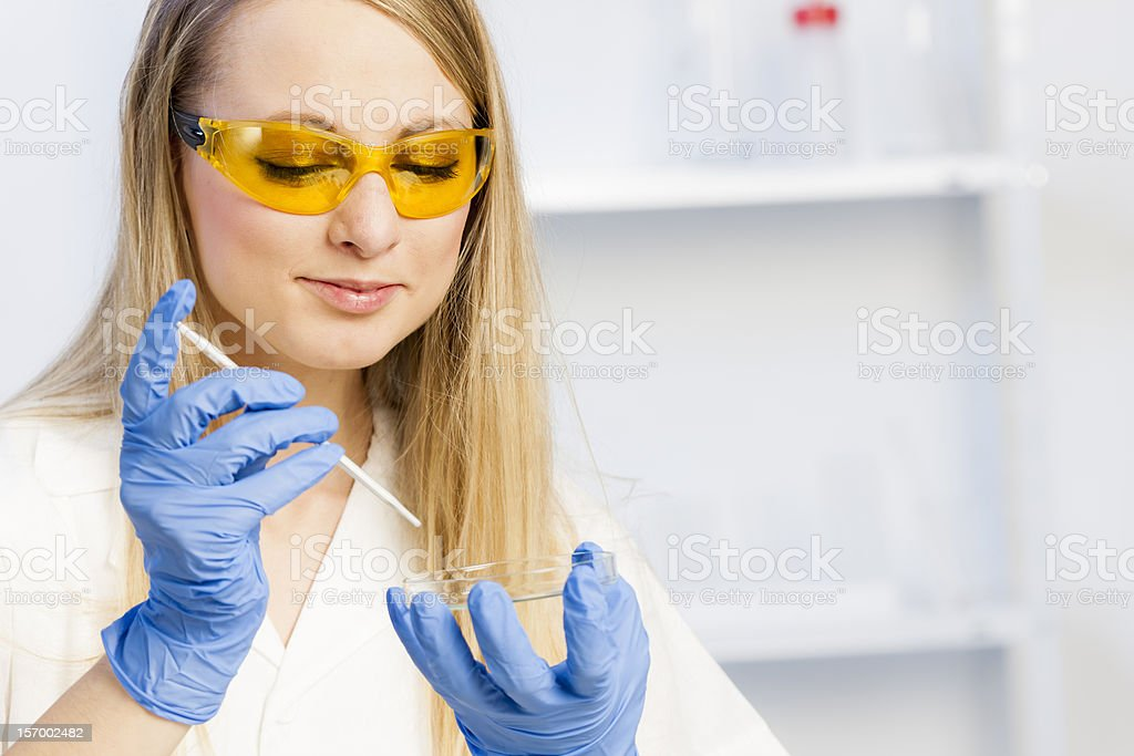 woman in laboratory royalty-free stock photo