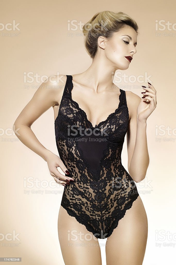Woman In Lace royalty-free stock photo
