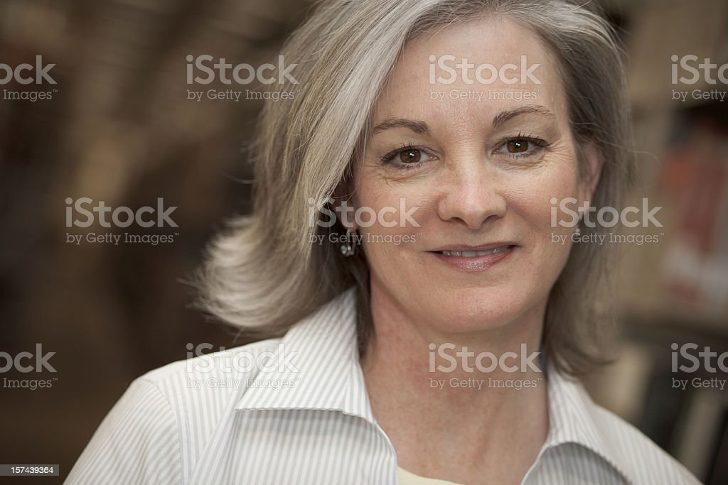 Woman in Library Series (XXL) royalty-free stock photo