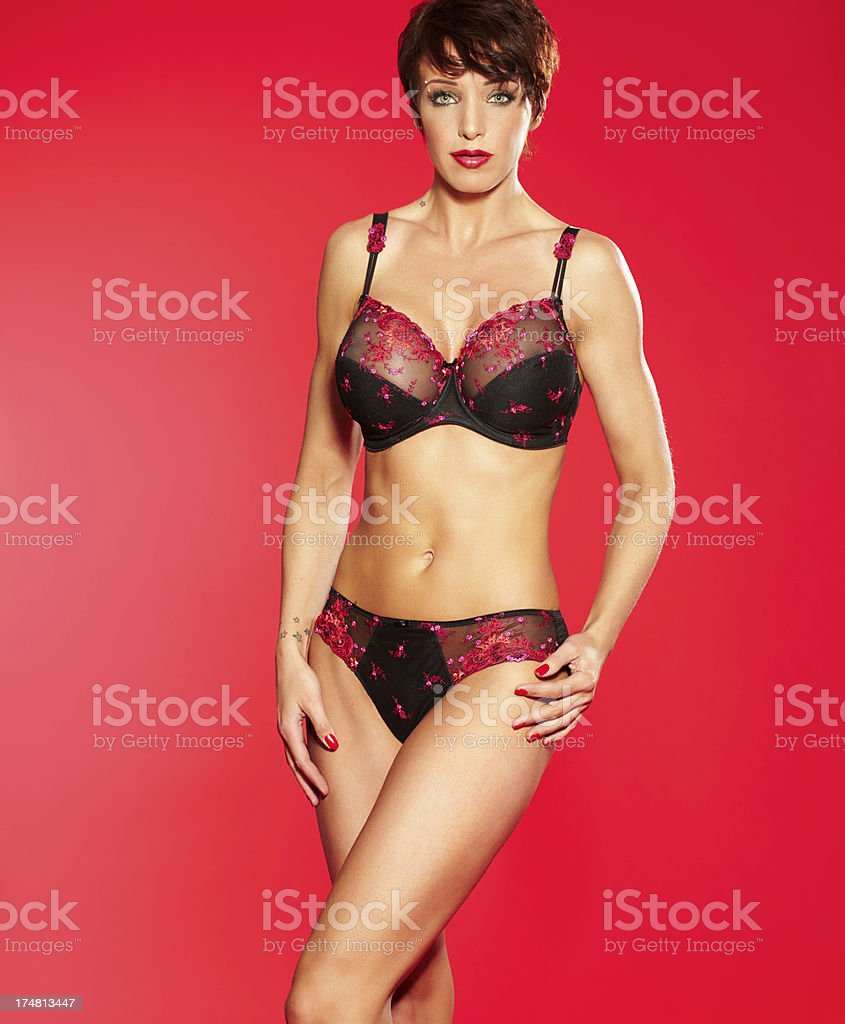 Woman In Lingerie royalty-free stock photo