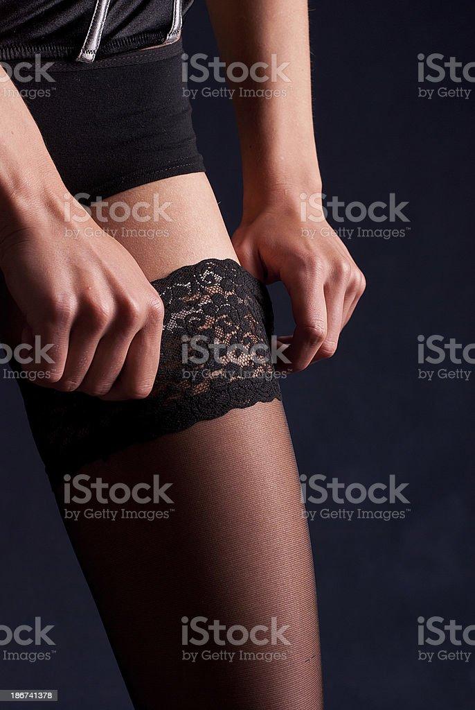 Mujer en lencería foto de stock libre de derechos