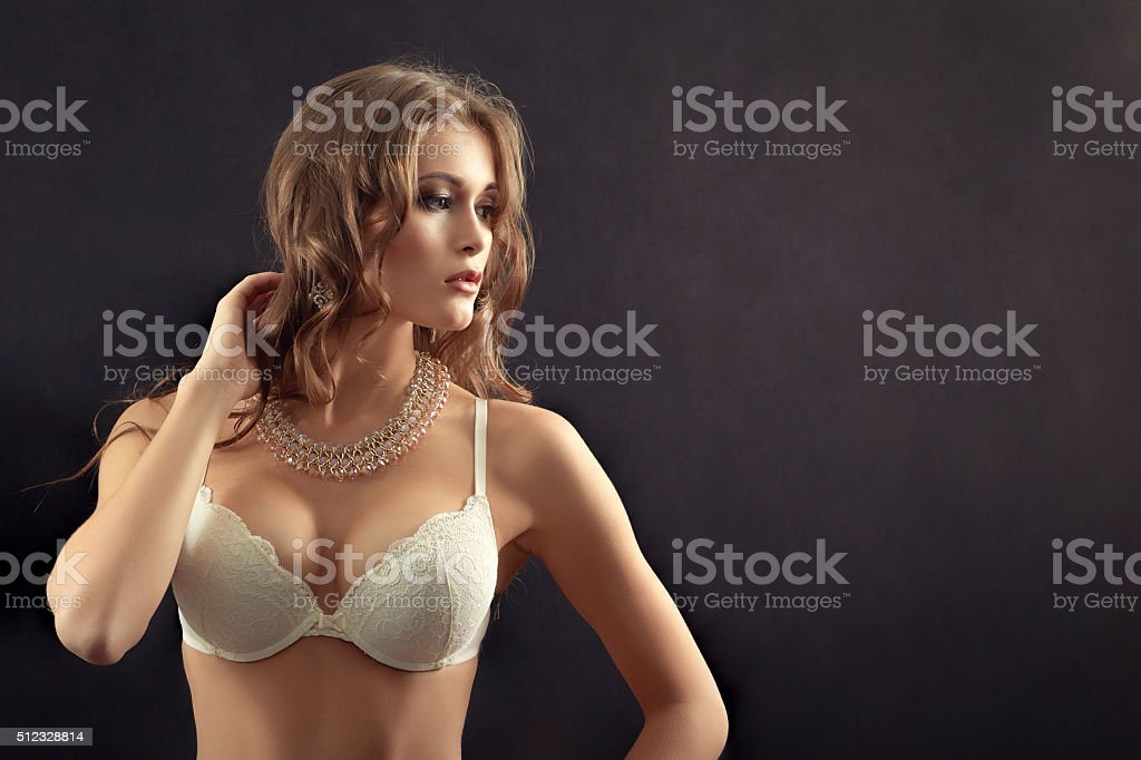 woman in lingerie stock photo