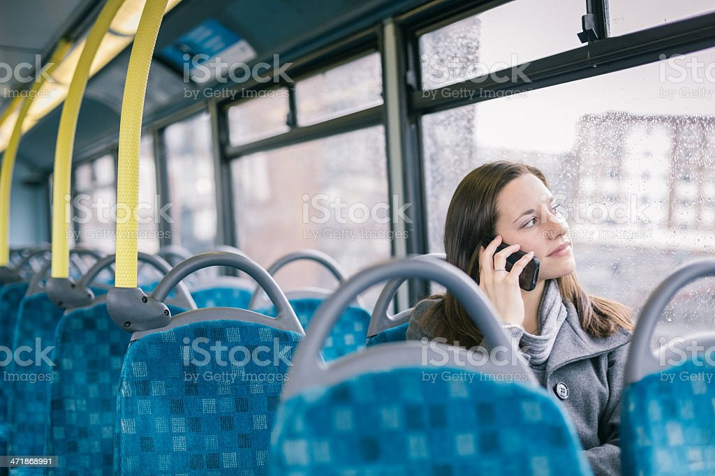 Woman in London royalty-free stock photo