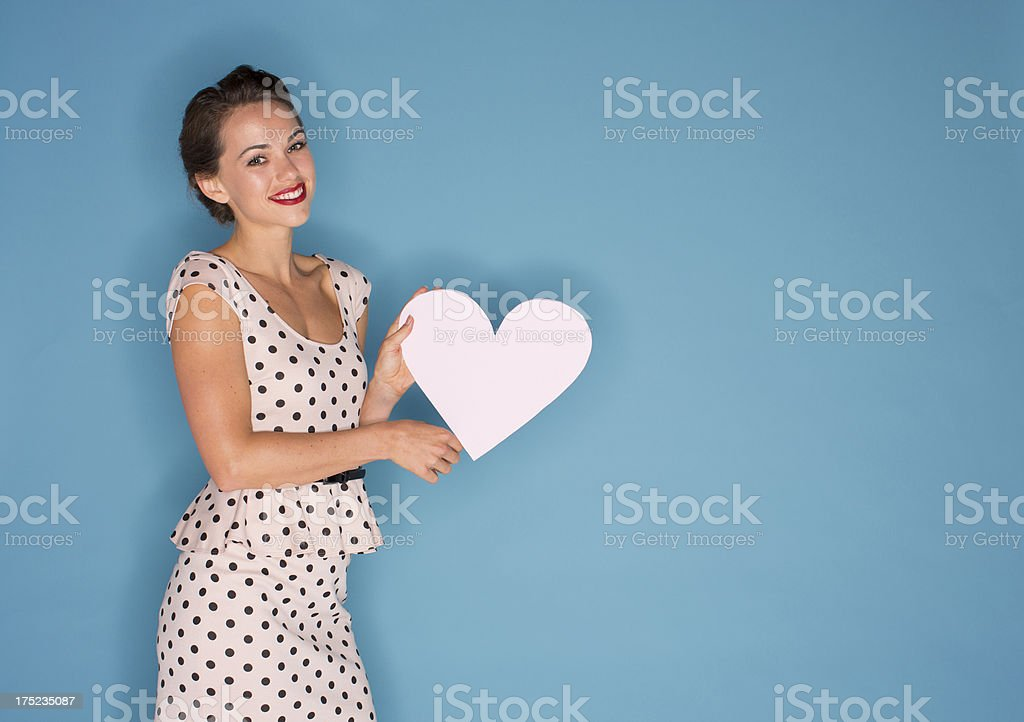 Woman in love stock photo