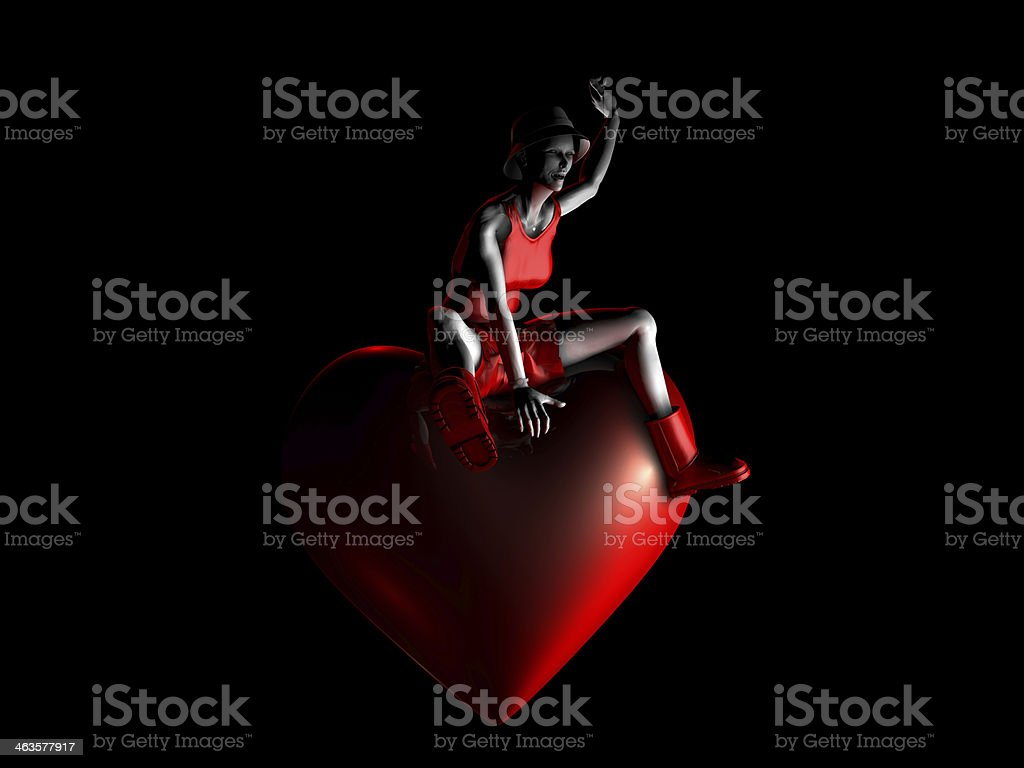 Woman in Love royalty-free stock photo