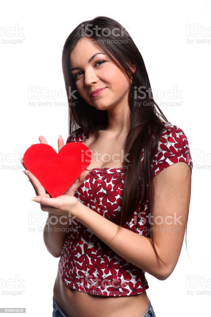 Woman in love stock photo
