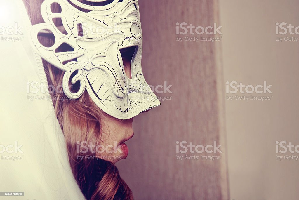 Woman in mask royalty-free stock photo