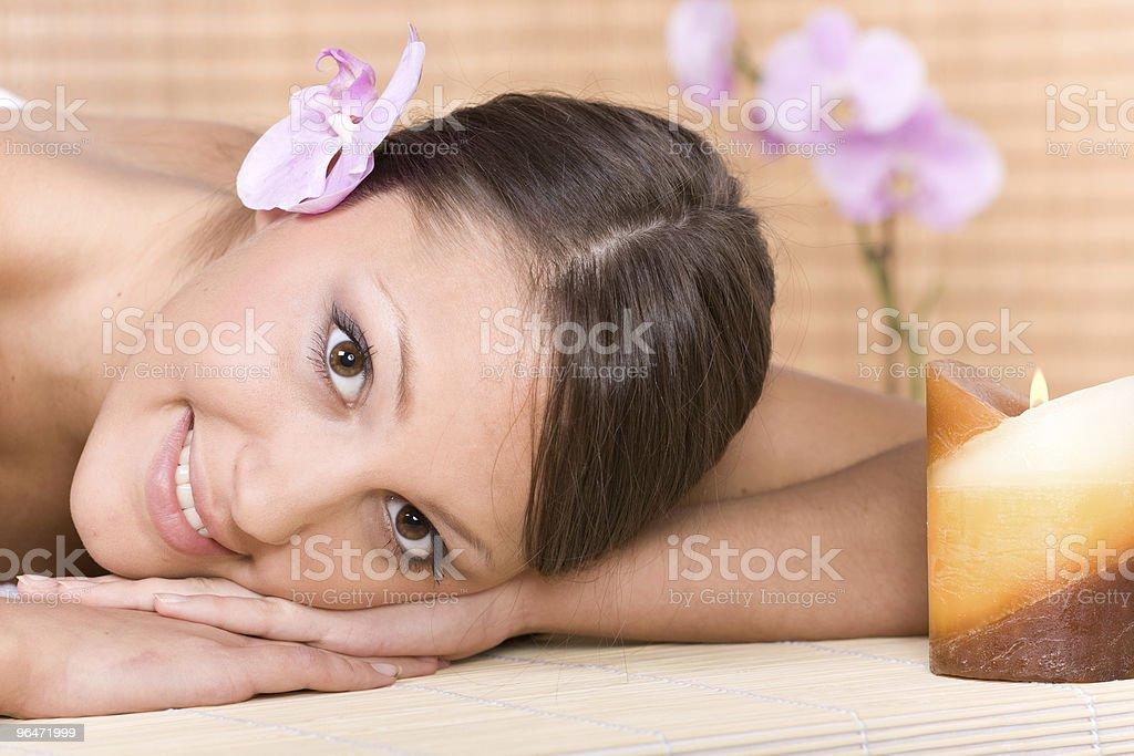 woman in massage stock photo