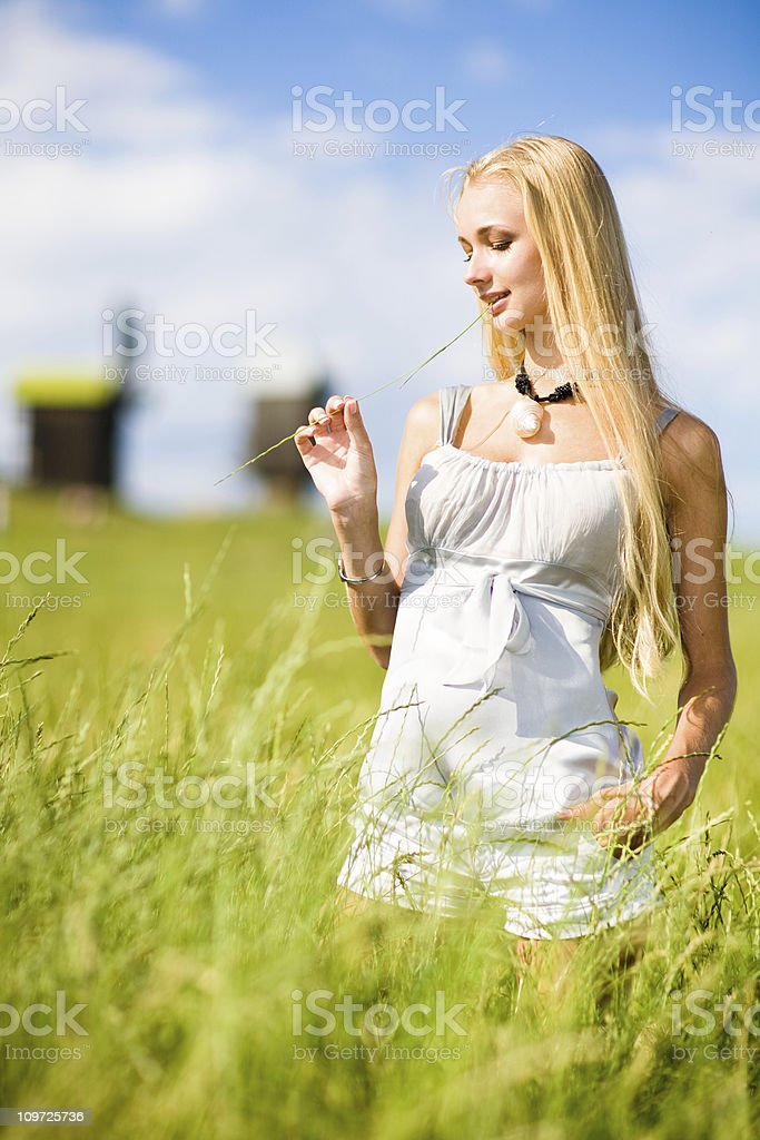 Woman in Meadow royalty-free stock photo