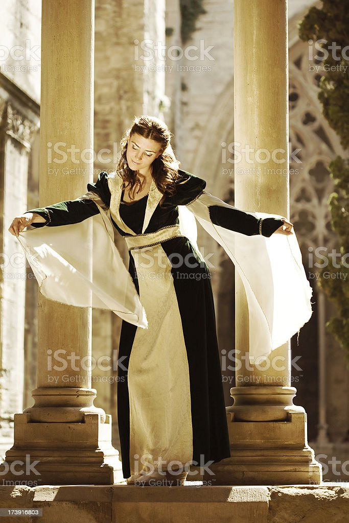 Woman In Medieval Times stock photo