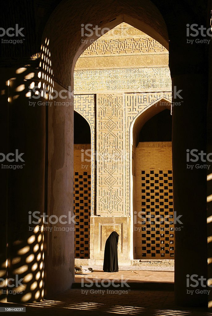 Woman in mosque royalty-free stock photo