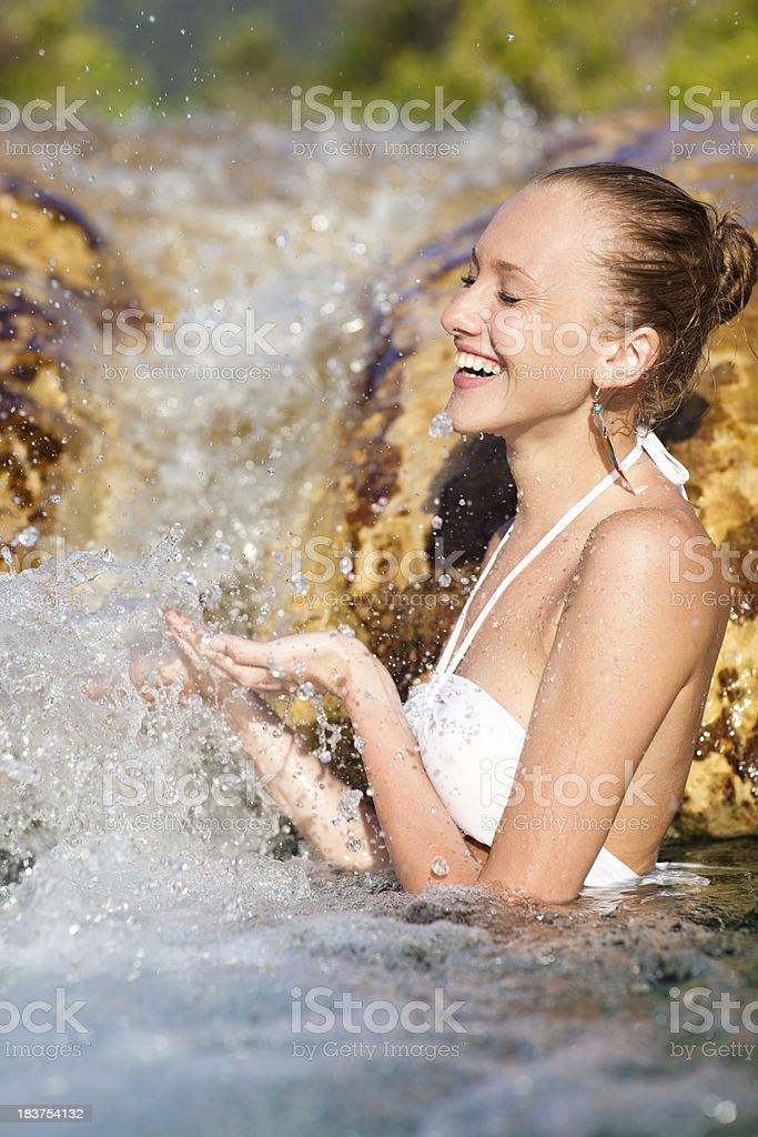 Woman in natural SPA stock photo