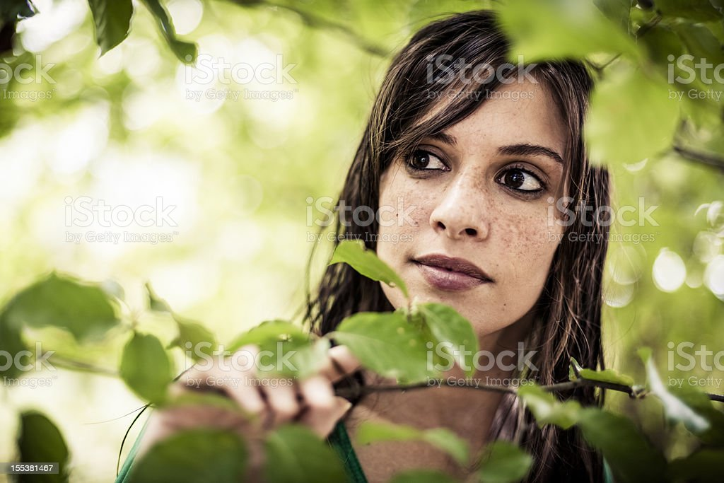 Woman in Nature royalty-free stock photo