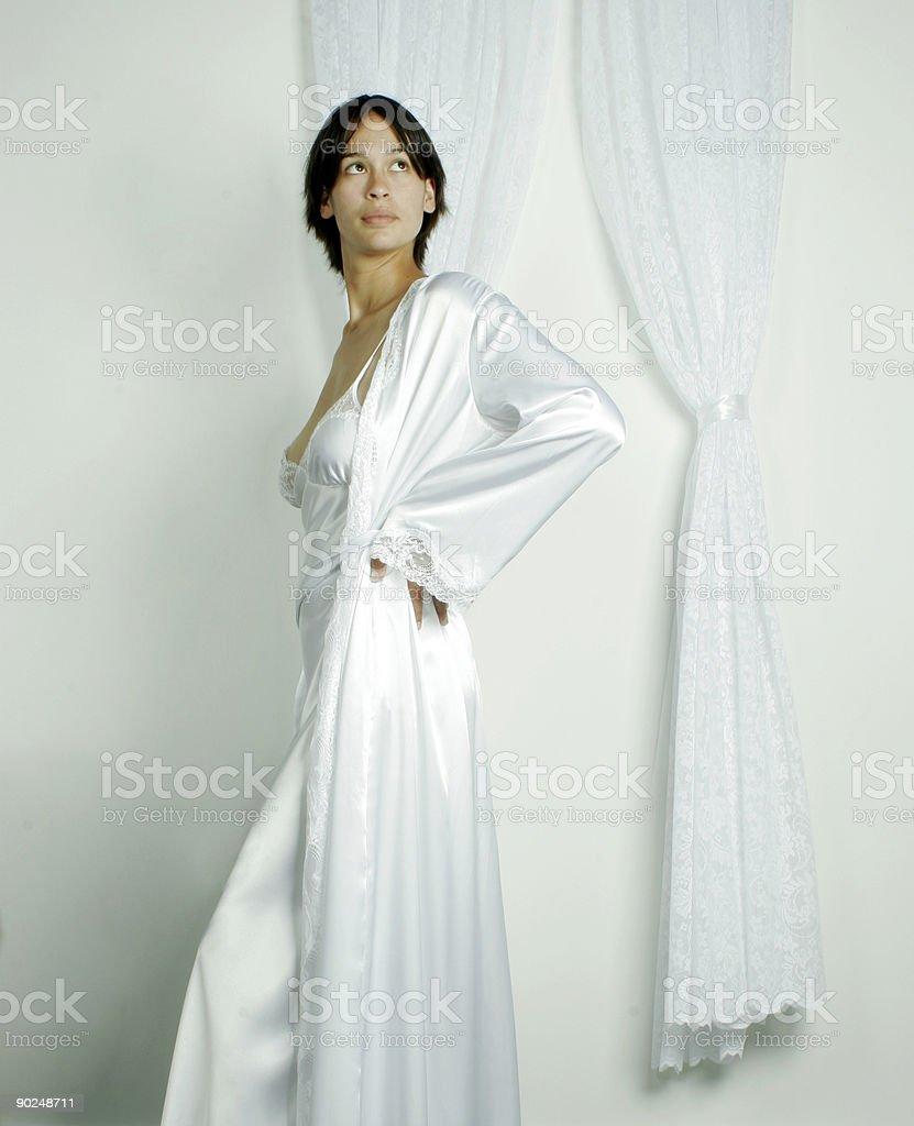Woman in nightwear royalty-free stock photo