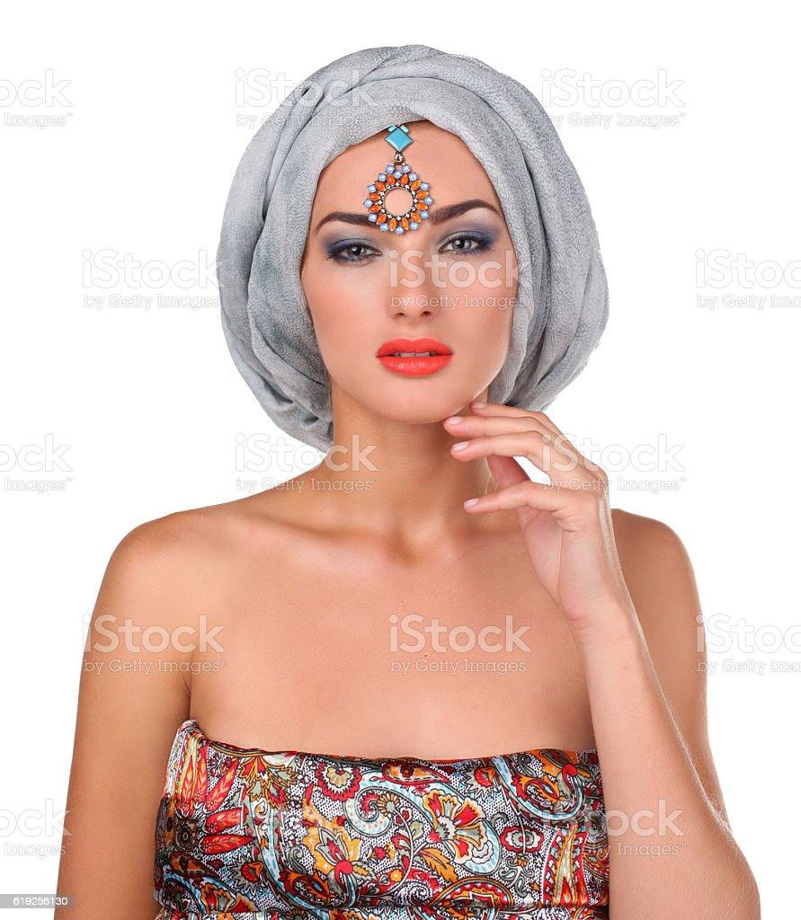 woman in oriental style stock photo
