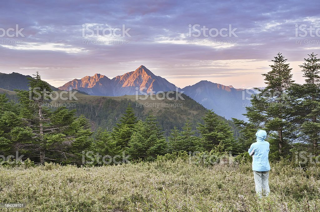Woman in outdoor royalty-free stock photo