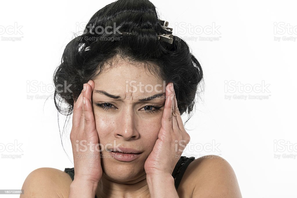 Woman in Pain royalty-free stock photo