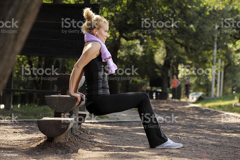 woman in park royalty-free stock photo