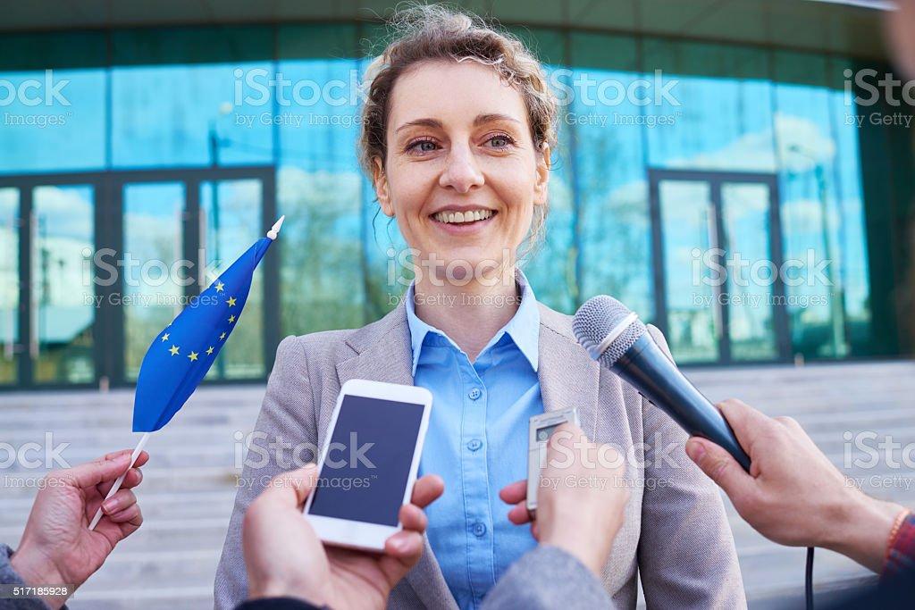 Woman in politics stock photo
