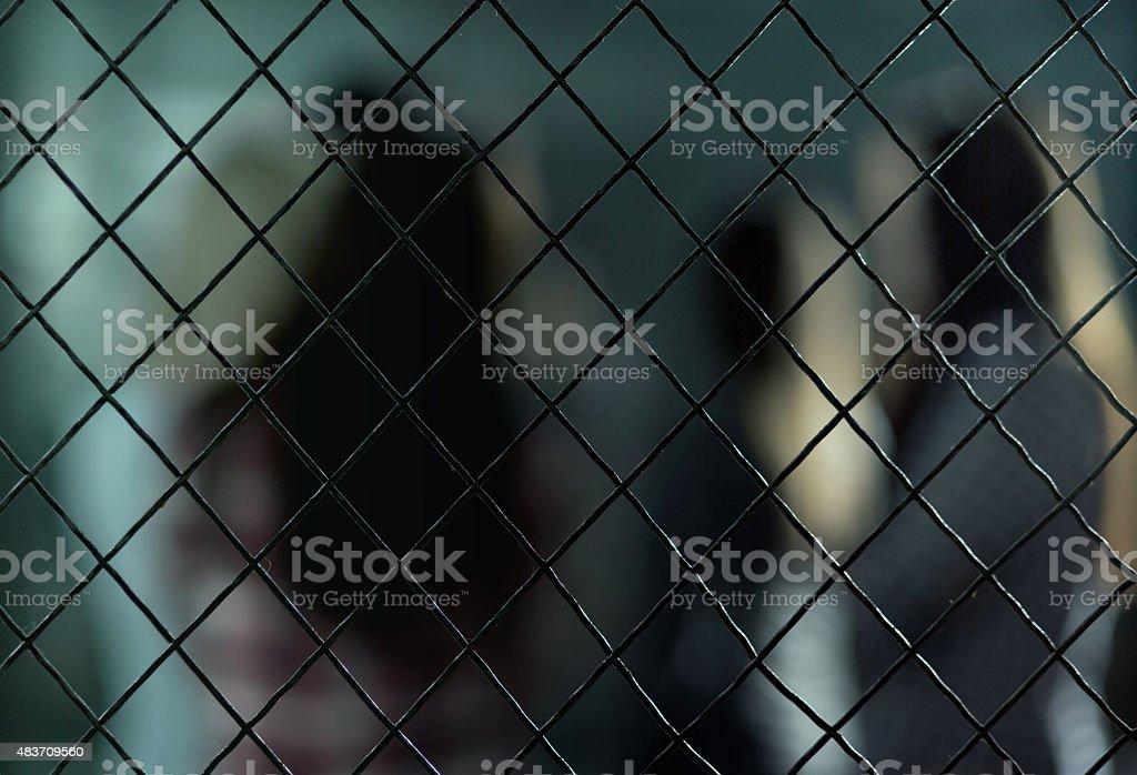 Woman in prison stock photo