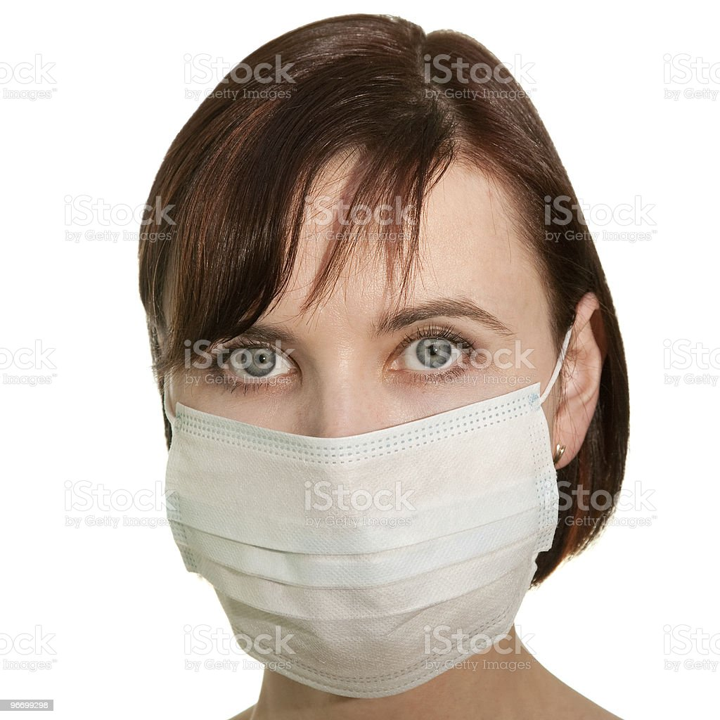 Woman in protective mask royalty-free stock photo