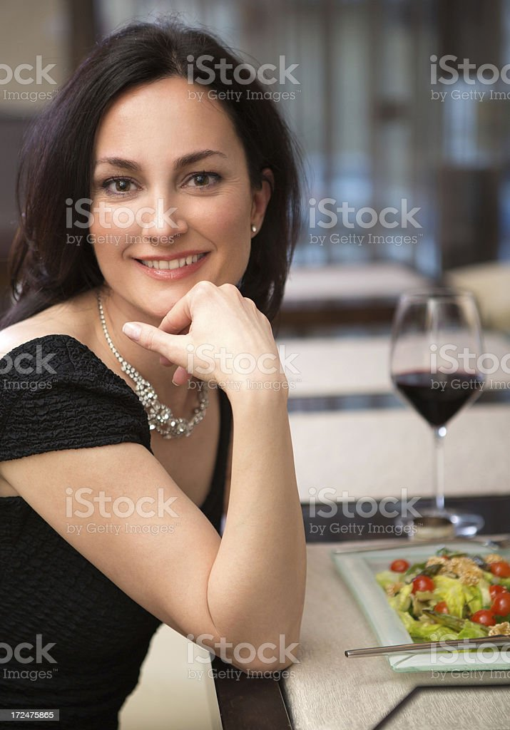 Woman in restaurant. royalty-free stock photo