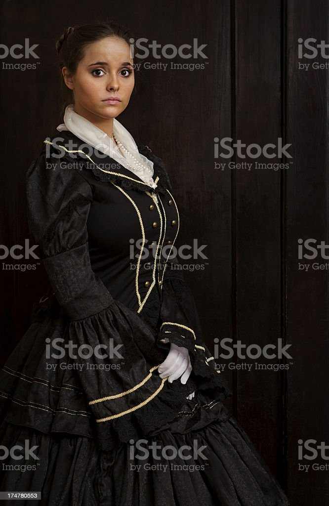Woman in Royal Gown royalty-free stock photo