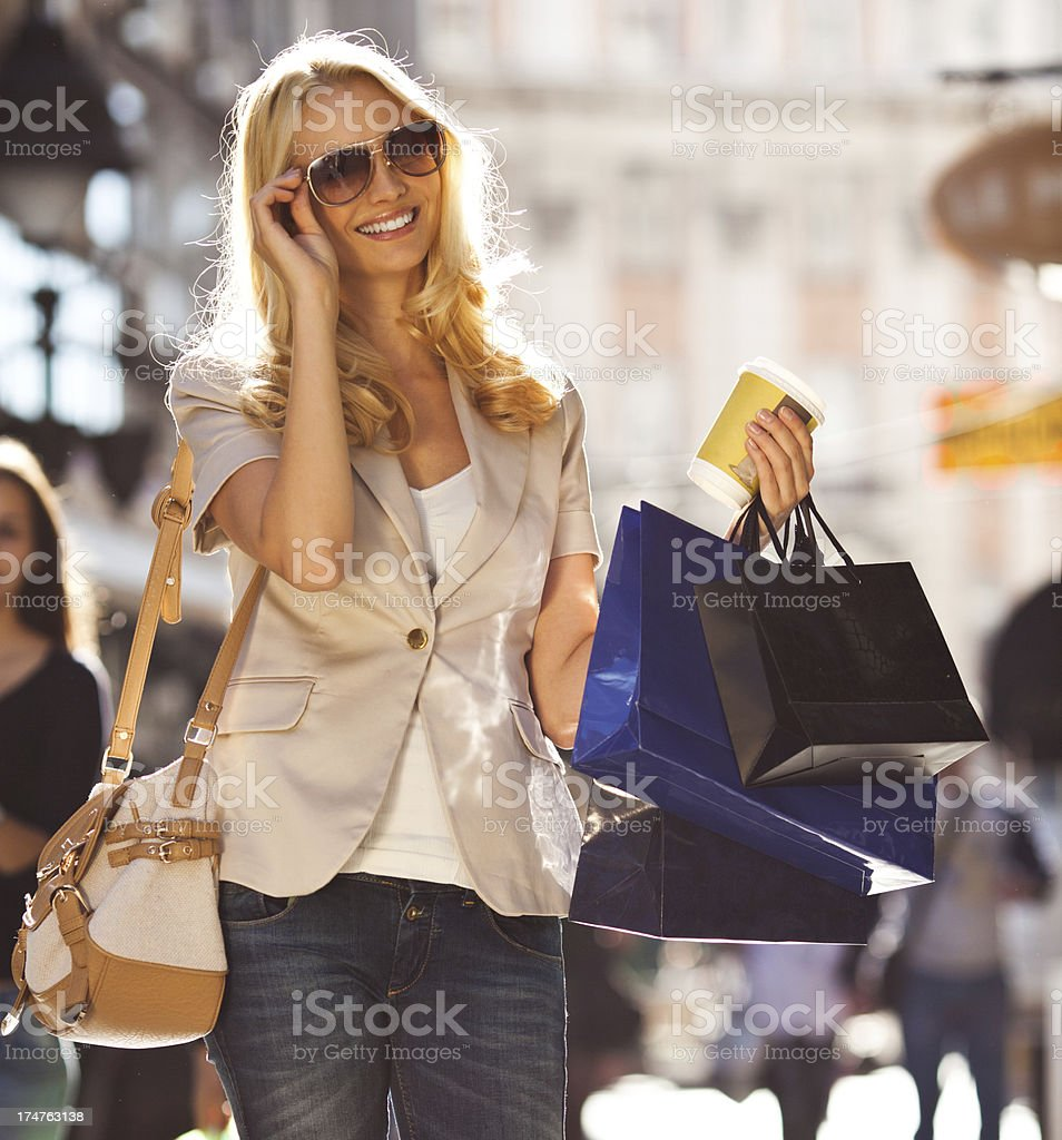 Woman in shopping royalty-free stock photo