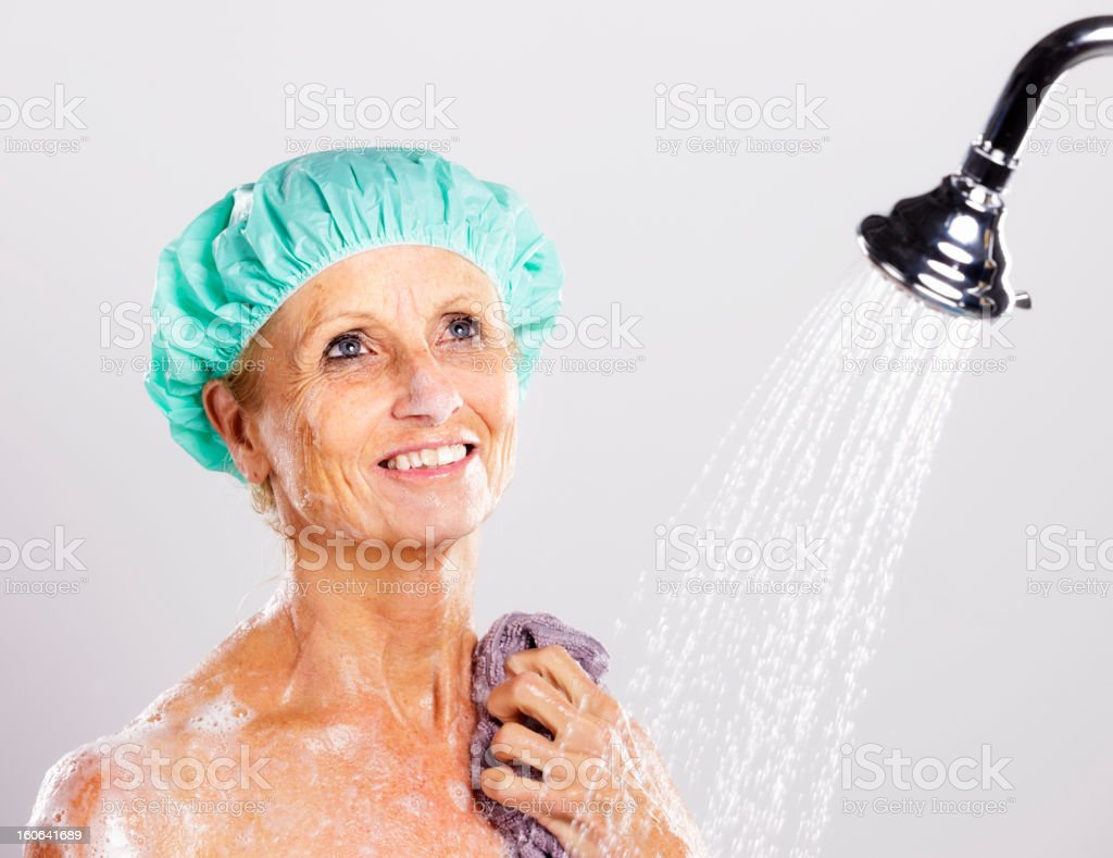 Woman in Shower royalty-free stock photo