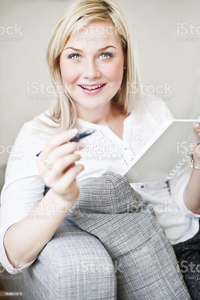 woman in sofa royalty-free stock photo
