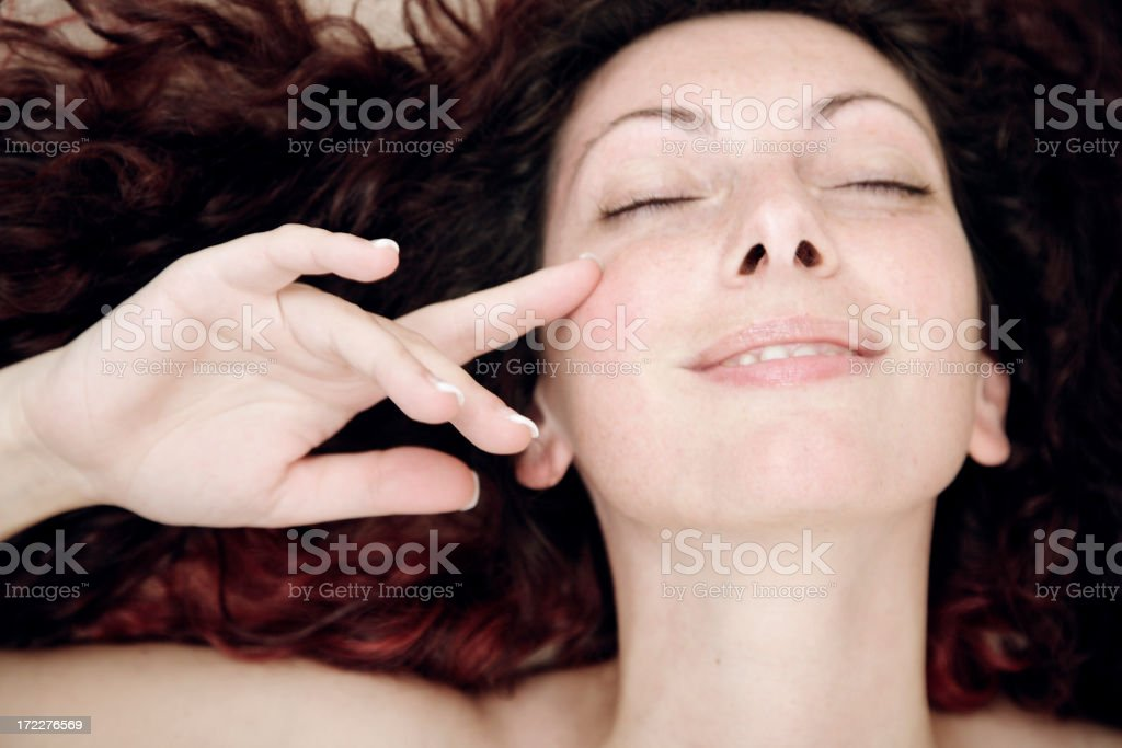 Woman in spa centre royalty-free stock photo