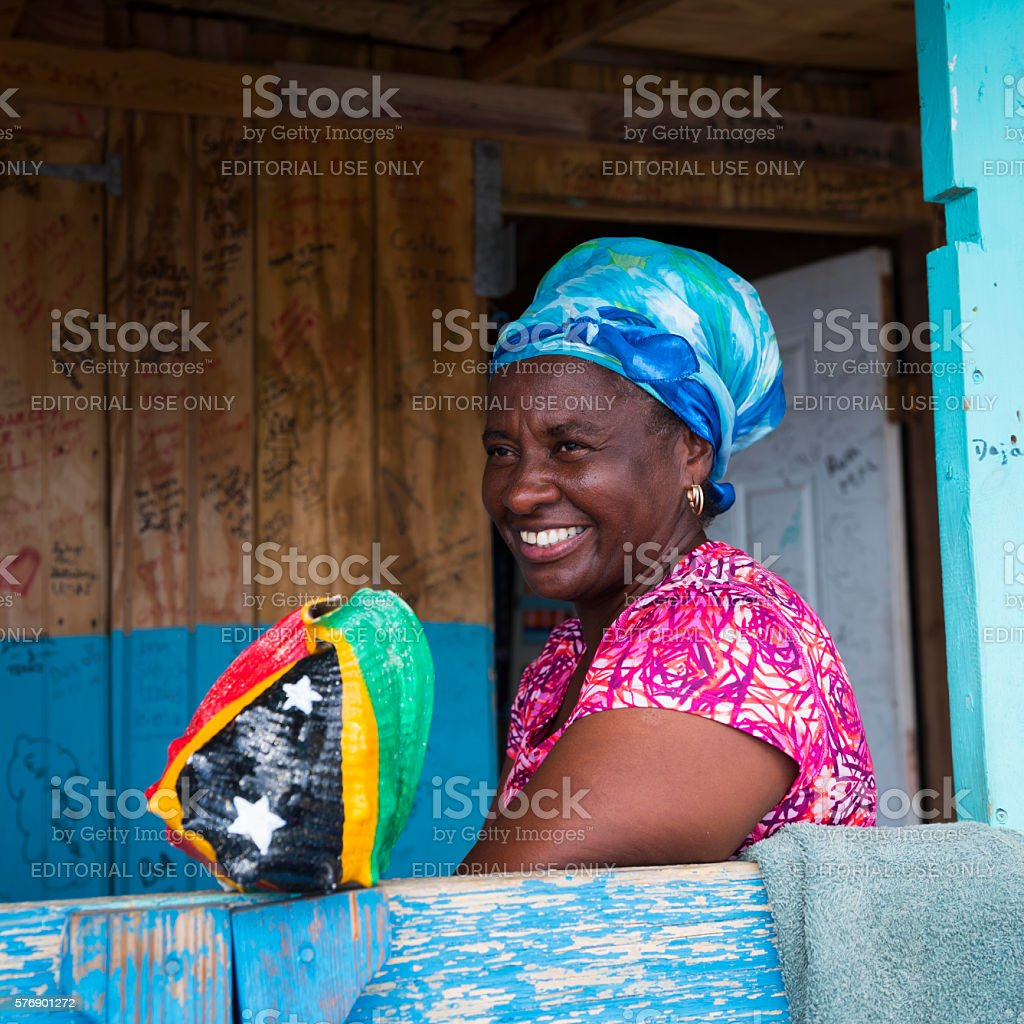 Woman in St. Kitts stock photo