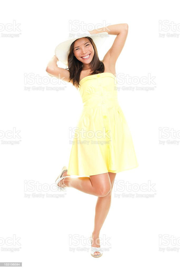 Woman in summer dress royalty-free stock photo