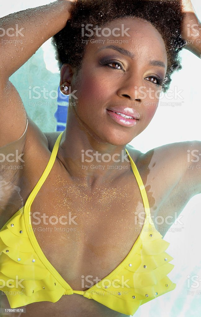 Woman in Swimming Pool royalty-free stock photo