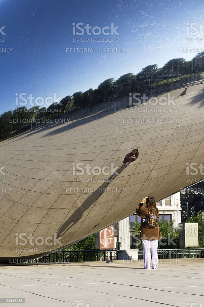 Woman in the Bean stock photo