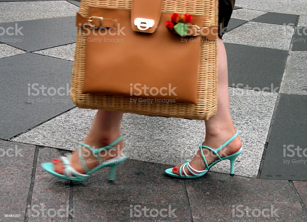 Woman in the city royalty-free stock photo