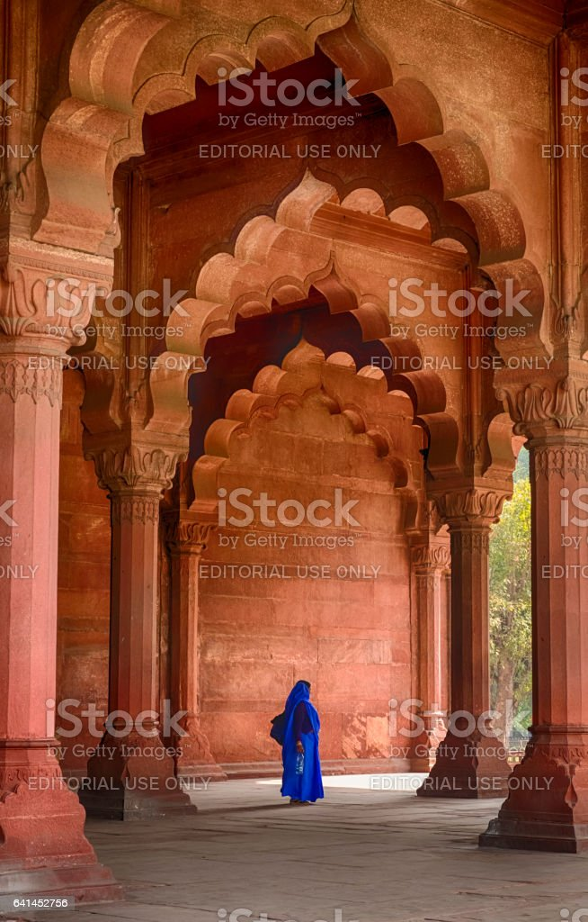 Woman In The Diwan-i-Aam stock photo