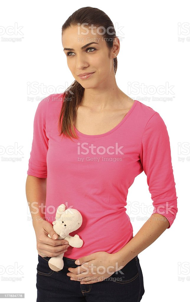 Woman in the first trimester stock photo