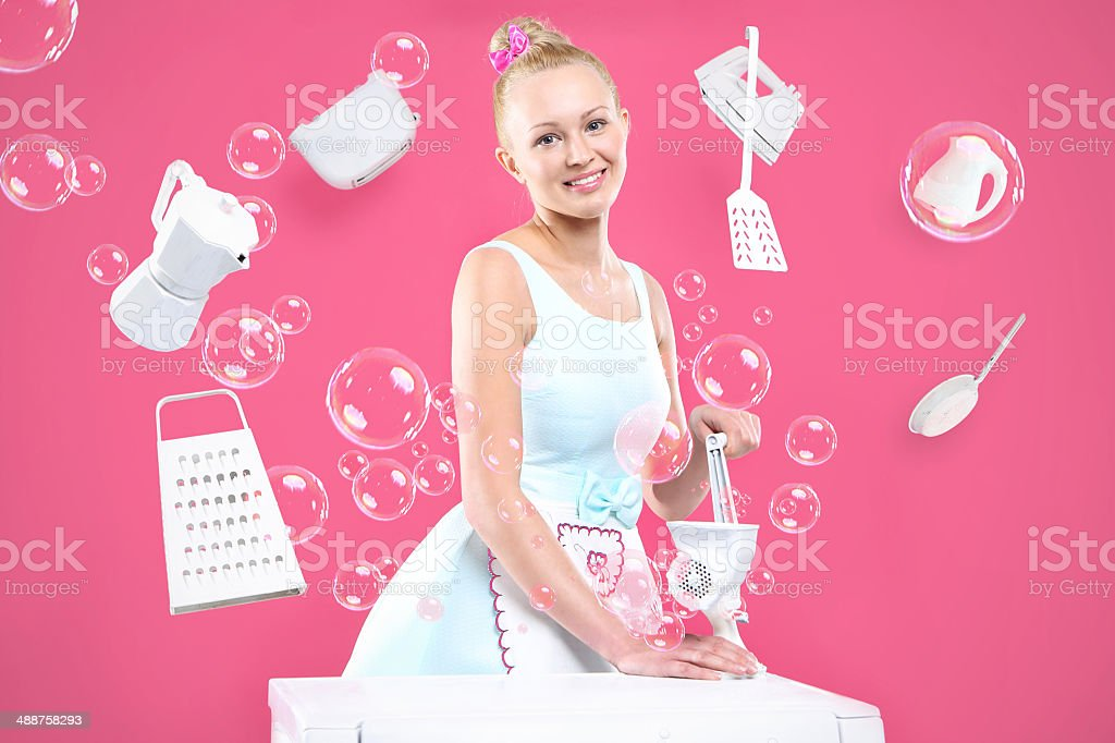 Woman in the kitchen. royalty-free stock photo