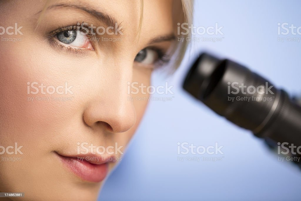 Woman in the laboratory royalty-free stock photo