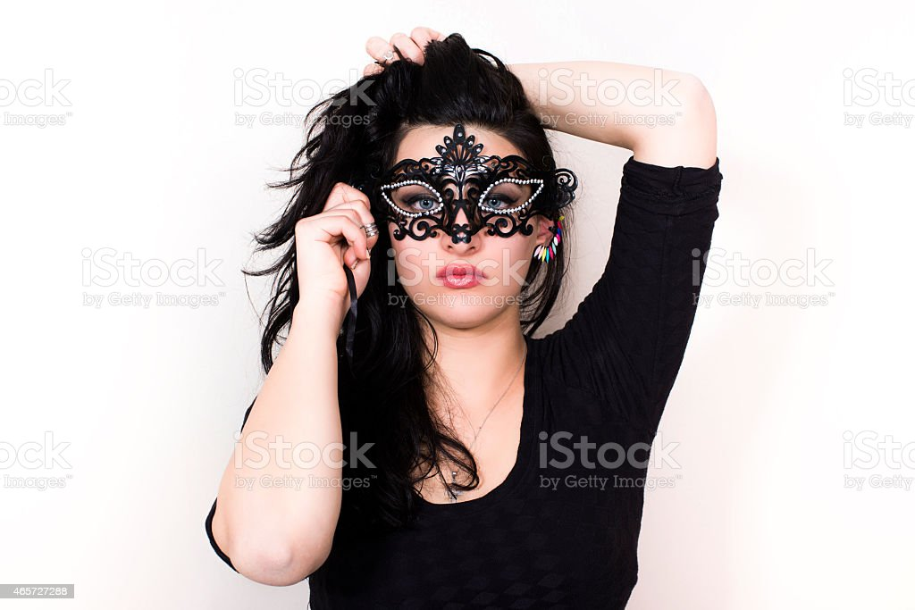 Woman in the mask stock photo