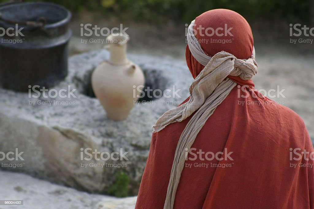 Woman in the Middle East stock photo