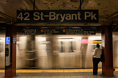 Woman in the New York City subway