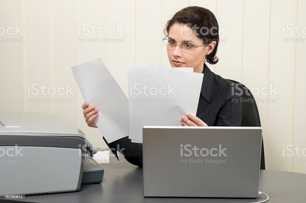 Woman in the office royalty-free stock photo
