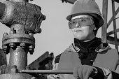 Woman in the oilfield