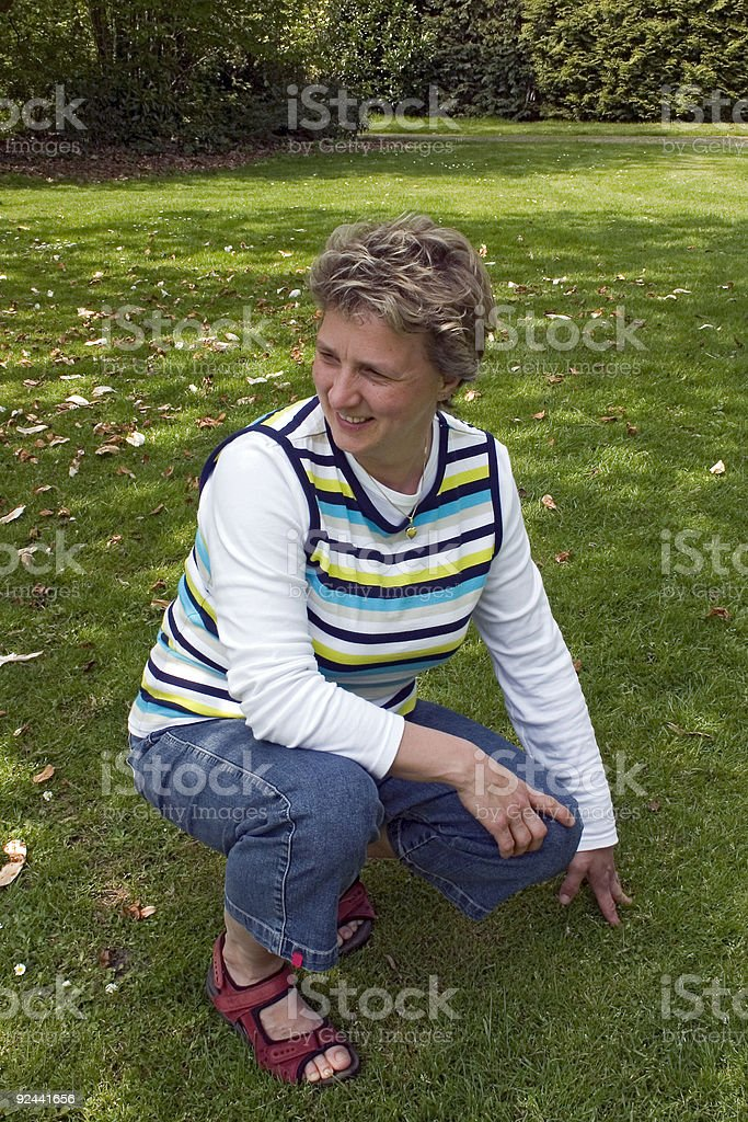 Woman in the park royalty-free stock photo