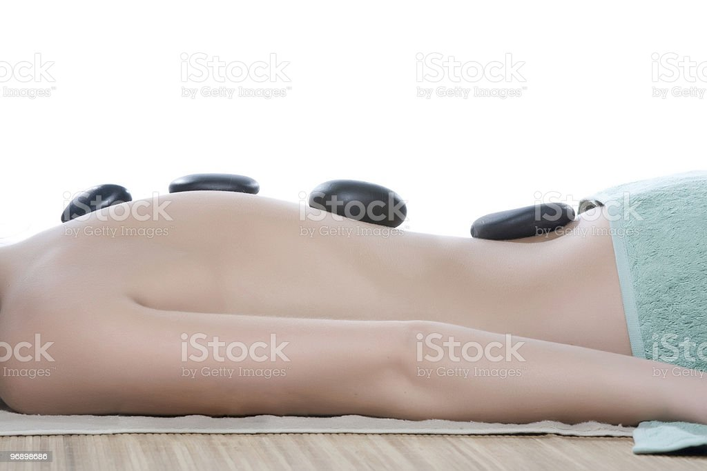 donna in spa royalty-free stock photo