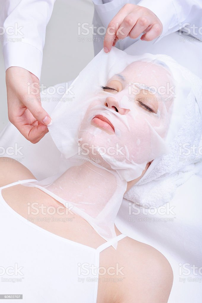 woman in the spa salon royalty-free stock photo