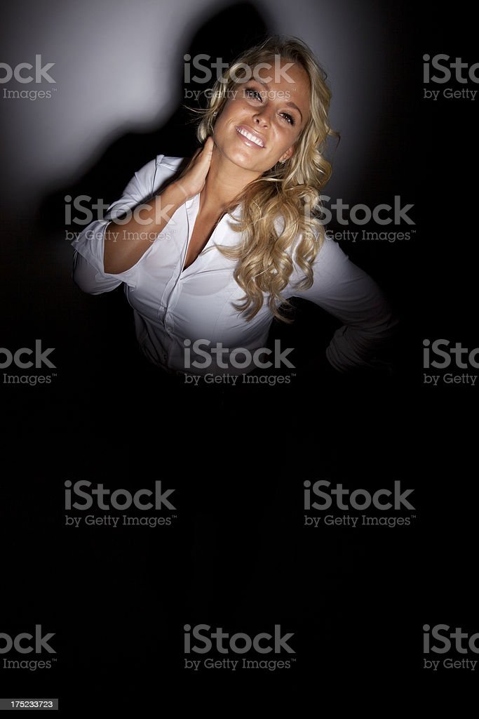 Woman In The Spotlight royalty-free stock photo