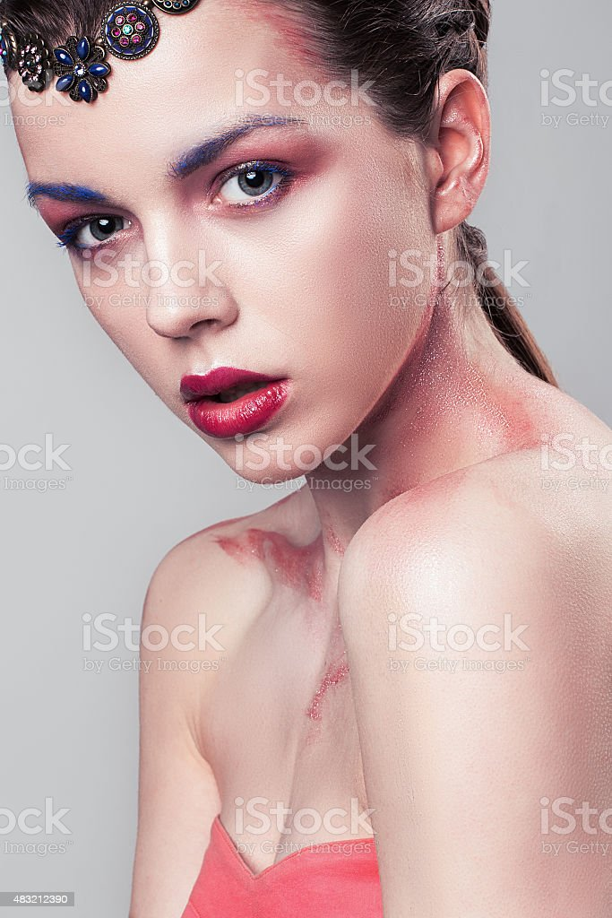 Woman in the studio royalty-free stock photo